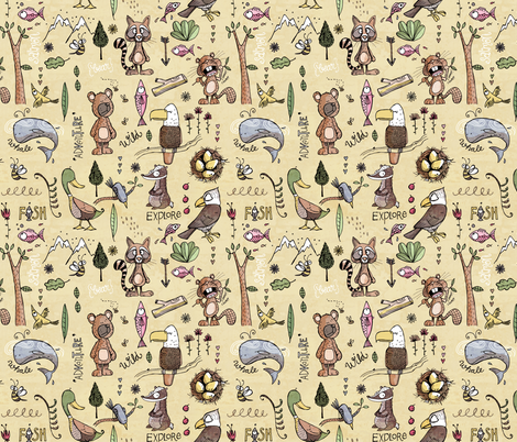A Little Bit Wild fabric by mulberry_tree on Spoonflower - custom fabric