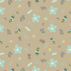 beigeflowerrepeatpattern