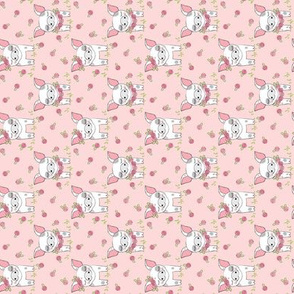 tiny spotted-pigs-with-roses-on-pink rotated