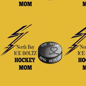 gold hockey mom2