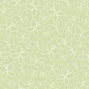 Green Floral Spring Tea Party Pattern
