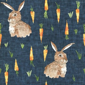 Cottontail bunny carrot (navy) MED