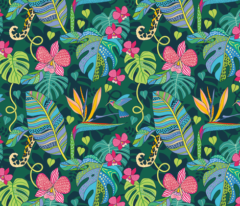 Bohemian Tropics fabric by nadyabasos on Spoonflower - custom fabric