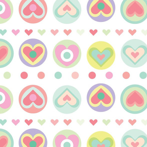 Simple but colorful heart shapes