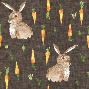 Cottontail Bunny Carrot (chocolate) MED