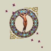 bronze nouveau woman