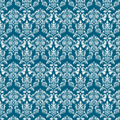 Bubble Damask- Teal
