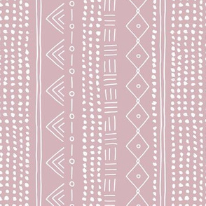Minimal mudcloth bohemian mayan abstract indian summer love aztec design dusty pink vertical rotated