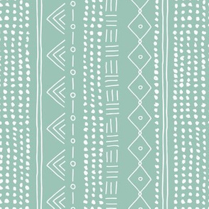Minimal mudcloth bohemian mayan abstract indian summer love aztec design mint vertical rotated