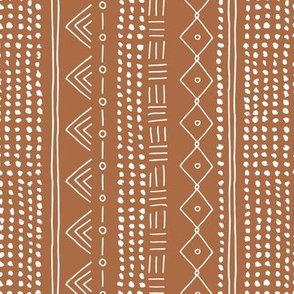 Minimal mudcloth bohemian mayan abstract indian summer love aztec design copper brown vertical rotated