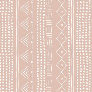 Minimal mudcloth bohemian mayan abstract indian summer love aztec design dusty nude vertical rotated