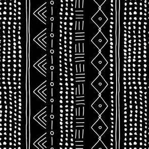 Minimal mudcloth bohemian mayan abstract indian summer love aztec design monochrome black and white vertical rotated