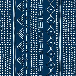 Minimal mudcloth bohemian mayan abstract indian summer love aztec design navy blue vertical rotated