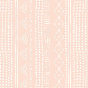 Minimal mudcloth bohemian mayan abstract indian summer love aztec design peach blush vertical rotated