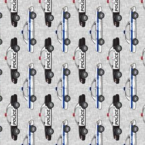 (extra small) Police Car fabric (90) - LAD19BS