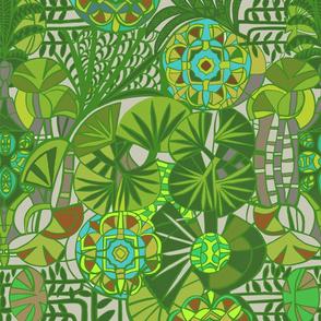 Leafy Bohemian Tropical