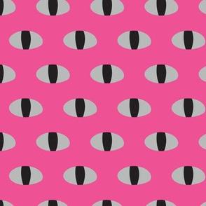Snake Eyes Watching Pink Black Gray Simple Graphic