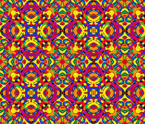 catroon nouveau//bright fabric by esobeecraft on Spoonflower - custom fabric