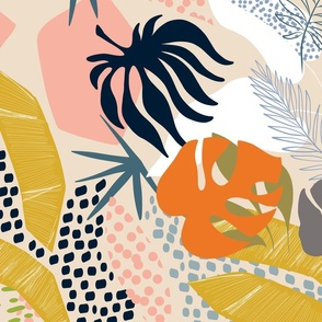 Tropical foliage - Natural Retro Boho