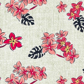Frangipani Floral - Resort Sun Bleached Beige