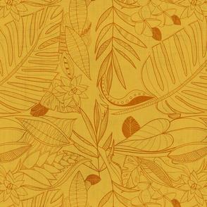 bohemian line art: gold