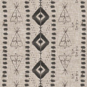 Tribal teepee black