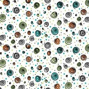 Swirls and dots