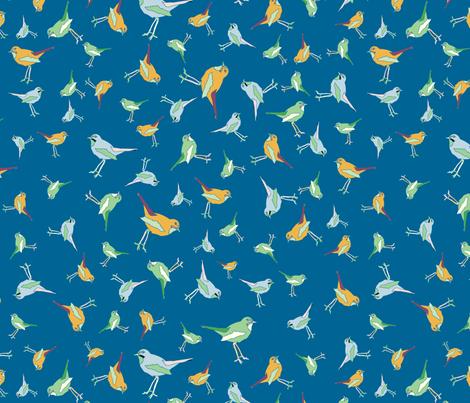 Birds flock fabric by shorelinedesigns on Spoonflower - custom fabric