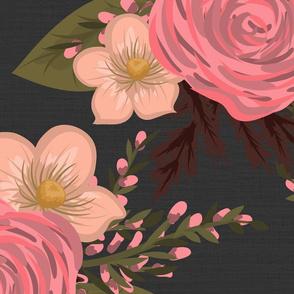 Daphne Floral Charcoal