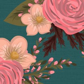 Daphne Floral Teal