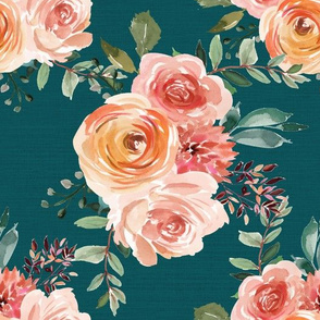 Beatrice Floral Teal
