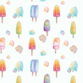 Bright Watercolour Popsicles