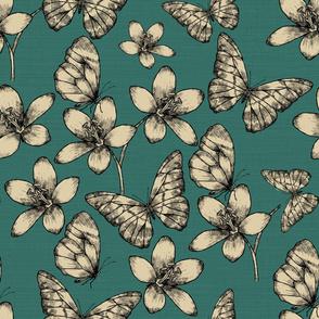 Butterfly Garden Teal