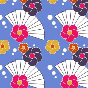 Japanese fan and flower