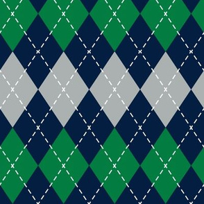 Argyle - green, grey, navy - LAD19