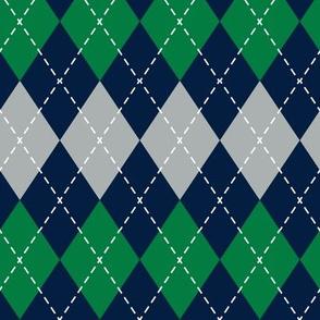 Argyle - green, grey, navy - LAD19