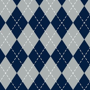 argyle - navy and grey - LAD19