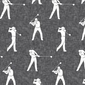 golfers on grey linen - LAD19