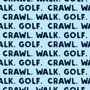 crawl walk golf - navy and baby blue - LAD19
