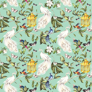 Chinoiserie - Pastel Green - Small Scale