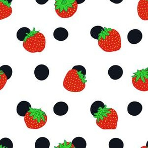 Polka dot and strawberry