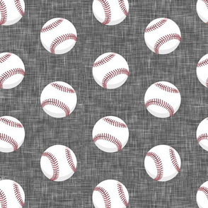 (large scale) baseballs - grey linen C19BS
