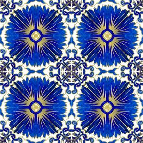 Azulejos - Portuguese Tiles Blue and Gold
