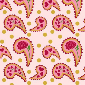 Western Hearts Paisley Pink
