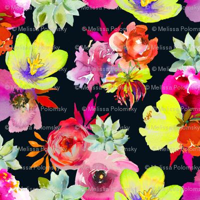 Summer Dreams Floral // Black