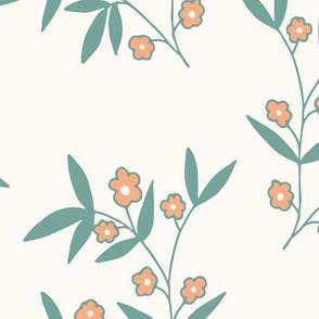 Large, Orange Flowers