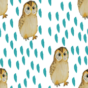 Owl and Leaf pattern