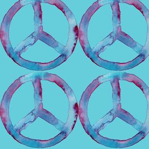 Summer Watercolor Peace Aqua