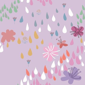Ditsy Abstract Floral Land