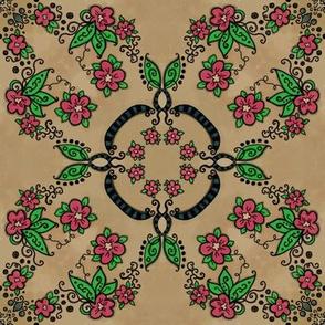 Lem Project 927 | Flowers on Mottled Creme Brulee